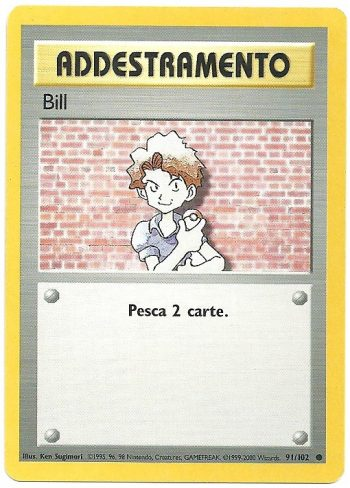 Bill Set Base 91102 Comune Carte Pokémon