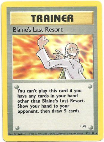 Blaines Last Resort Gym Heroes 105132 Non Comune NM Carte Pokémon