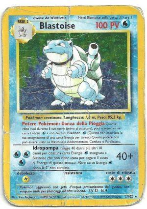 Blastoise – Set Base – 2102 – Rara Holo – ITA – Poor – Carte Pokémon