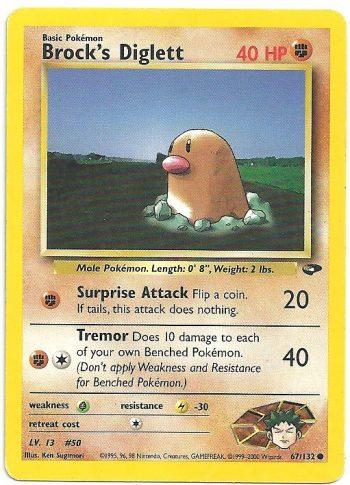 Brock s Diglett Gym Challenge 67132 Comune ENG Excellent Carte Pokémon