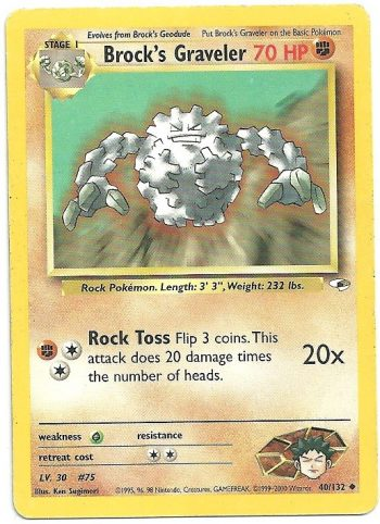 Brocks Graveler Gym Heroes 40132 Non Comune GD Carte Pokémon
