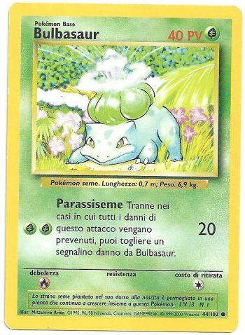 Bulbasaur Set Base 44102 Comune ITA Near Mint Carte Pokémon
