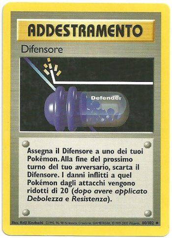 Difensore – Set Base – 80102 – Non Comune – Carte Pokémon