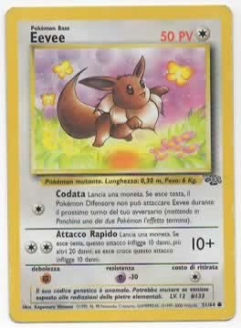 Eevee Jungle 5164 Comune ITA Good Carte Pokémon