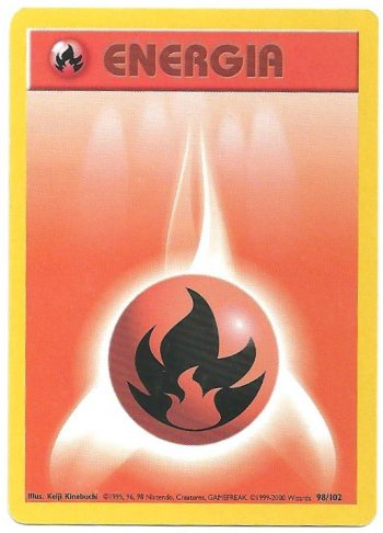 Energia Fuoco Set Base 98102 Comune Carte Pokémon