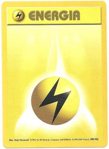 Energia Lampo – Set Base – 100102 – Comune – Carte Pokémon