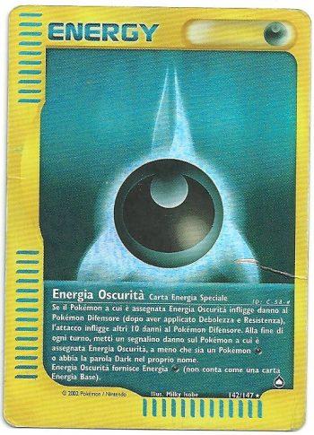 Energia Oscurità – Aquapolis – 142147 – Rara Holo – Carte Pokémon