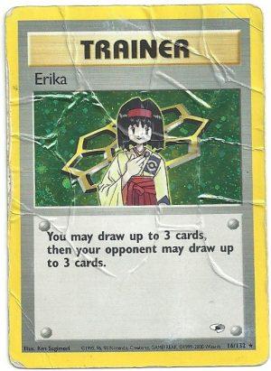 Erika – Gym Heroes – 16132 – Rara Holo – ENG – Poor – Carte Pokémon