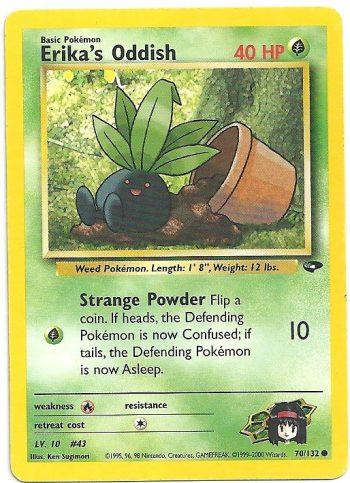 Erika s Oddish Gym Challenge 70132 Comune ENG Excellent Carte Pokémon