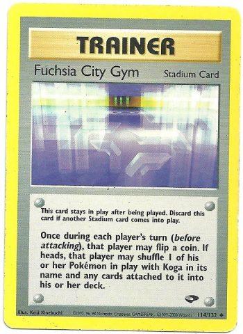 Fuchsia City Gym Gym Challenge 114132 Non Comune ENG Good Carte Pokémon