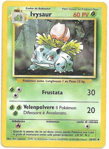 Ivysaur – Set Base – 30102 – Non Comune – Carte Pokémon