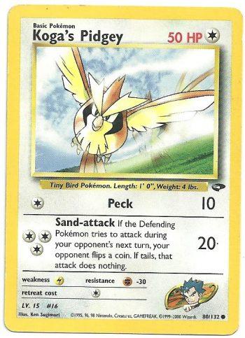 Koga's Pidgey – Gym Challenge – 80132 – Comune – ENG – Good – Carte Pokémon