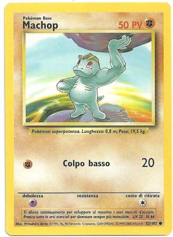 Machop Set Base 52102 Comune ITA Near Mint Carte Pokémon