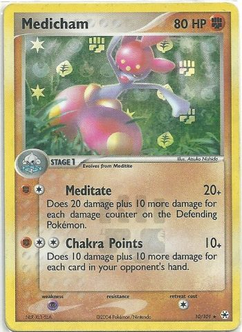 Medicham – EX Hidden Legends – 10101 – Rara Holo – ENG – NMINT – Carte Pokémon