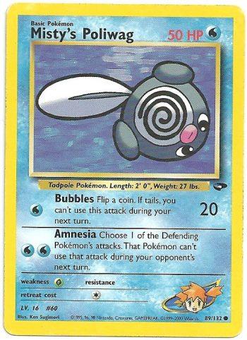 Misty s Poliwag Gym Challenge 89132 Comune ENG Good Carte Pokémon