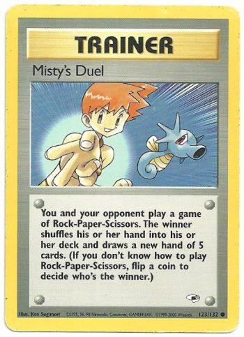 Mistys Duel Gym Heroes 123132 Comune LP Carte Pokémon