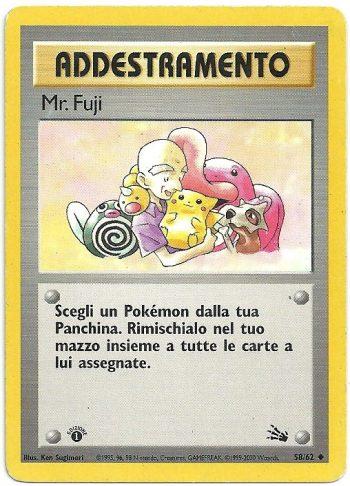Mr. Fuji Fossil 5862 Non Comune Carte Pokémon 2