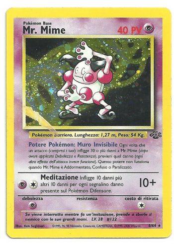 Mr. Mime Jungle 664 Rara Holo ITA Light Played Carte Pokémon
