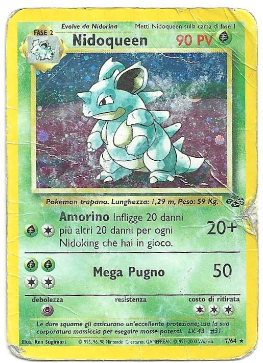 Nidoqueen Jungle 764 Rara Holo ITA Poor Carte Pokémon