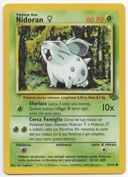 Nidoran♀ Jungle 5764 Comune ITA Excellent Carte Pokémon