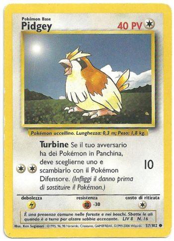 Pidgey Set Base 57102 Comune ITA Light Played Carte Pokémon