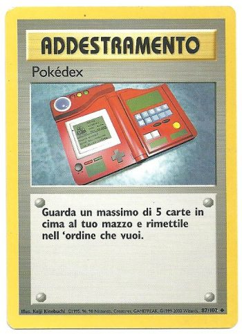 Pokédex Set Base 87102 Non Comune ITA Good Carte Pokémon