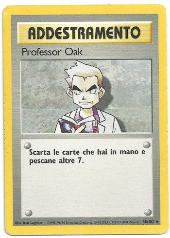 Professor Oak Set Base 88102 Non Comune Carte Pokémon