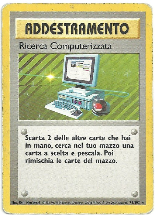 Ricerca Computerizzata Set Base 71102 Rara ITA Played Carte Pokémon