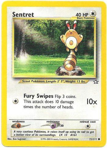Sentret – Neo Genesis – 71111 – Carte Pokémon
