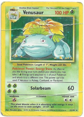 Venusaur Set Base 15102 Rara Holo ITA Poor Carte Pokémon