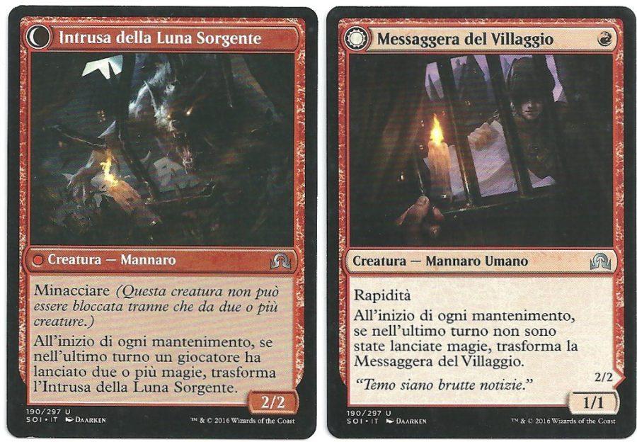 2x Messaggera del Villaggio Intrusa della Luna Sorgente SOI Non Comune Carte Magic The Gathering