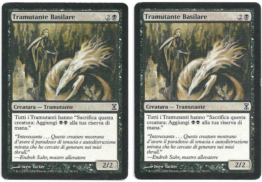 2x Tramutante Basilare TSP Comune Carte Magic The Gathering