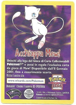 Acchiappa Mew Diventa padrone del gioco Wizards Black Star Promos Promo Carte Pokémon Fronte