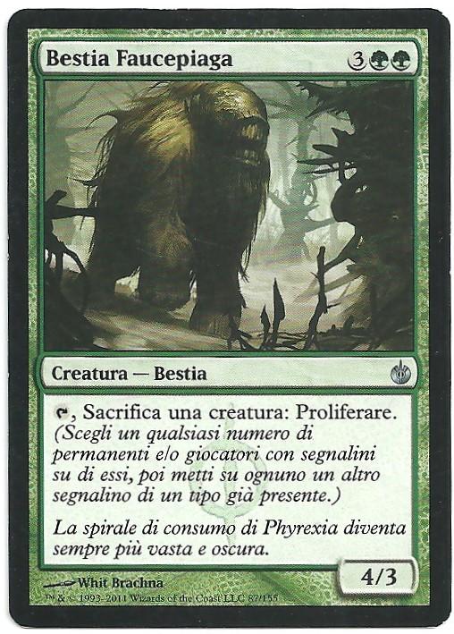 Bestia Faucepiaga MBS Non Comune Carte Magic The Gathering