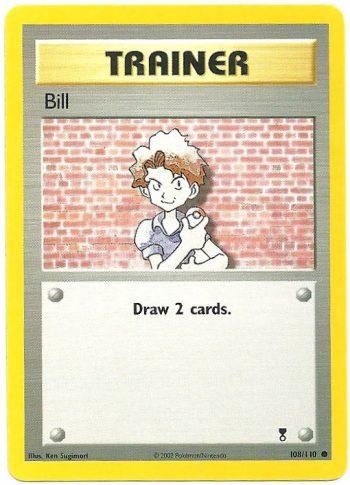 Bill Legendary Collection 108110 Comune Carte Pokémon