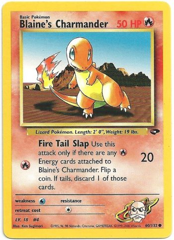 Blaines Charmander Gym Challenge 60132 Comune Carte Pokémon