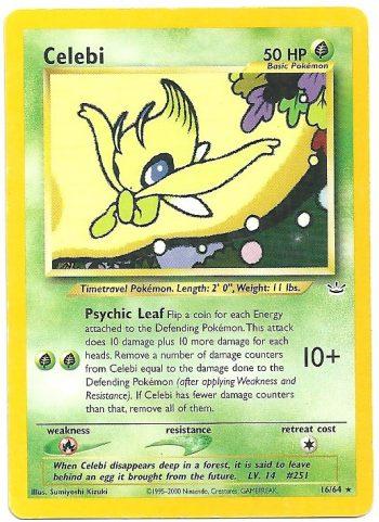 Celebi Neo Revelation 1664 Rara Carte Pokémon
