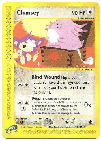 Chansey Expedition 72165 Non Comune Carte Pokémon