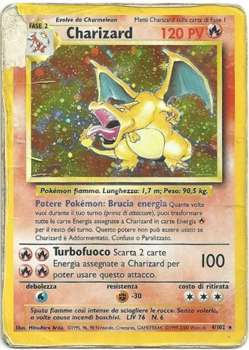 Charizard Set Base 4102 Rara Holo Carte Pokémon