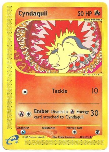 Cyndaquil Expedition 105165 Comune Carte Pokémon