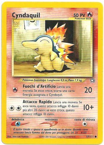 Cyndaquil Neo Genesis 57111 Comune Carte Pokémon