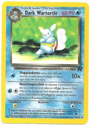 Dark Wartortle Team Rocket 4682 Non Comune Carte Pokémon