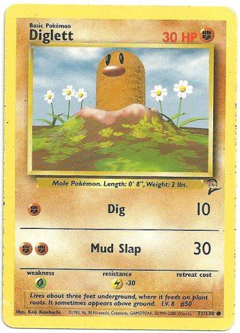 Diglett Set Base 2 71130 Comune LP Carte Pokémon