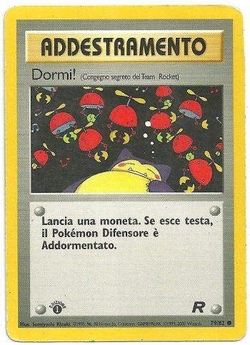 Dormi Team Rocket 7982 Comune 1st ed. ITA Played Carte Pokémon