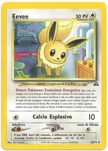 Eevee Neo Discovery 3875 Non Comune Carte Pokémon