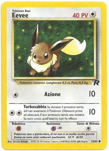 Eevee Team Rocket 5582 Comune ITA EXC Carte Pokémon