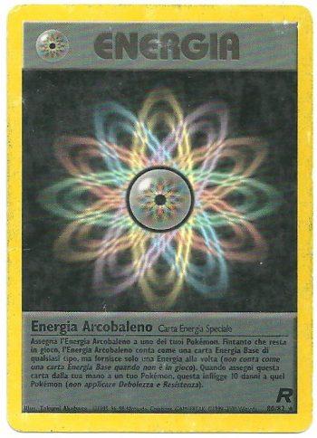 Energia Arcobaleno Team Rocket 8082 Rara PL Carte Pokémon