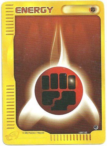Energia Combattimento Expedition 160165 Comune Carte Pokémon