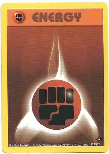 Energia Combattimento Gym Challenge 127132 Comune Carte Pokémon