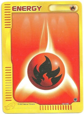Energia Fuoco Expedition 161165 Comune Carte Pokémon